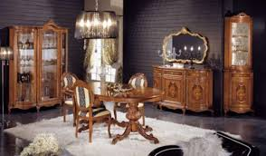 vintage italian barcelona style dining. Awesome Classic Dining Room Furniture By Modenese Gastone : With Dark Wooden Wall Cupboard Chandelier Mirror Table Vintage Italian Barcelona Style A