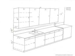 simple kitchen drawing. Simple Kitchen Stunning Standard Cabinet Depth Drawing Cabinets Dimensions With