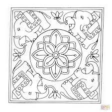 Mandala Elephant Coloring Pages Csengerilawcom