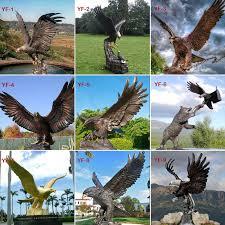 bronze eagle statue for