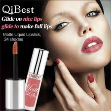 qibest 1pc 3g 24 shades long lasting waterproof ultra matte liquid lipstick moisturizer beauty makeup