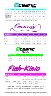 Oceanic Vortex V 16 Size Chart Sizing Chart Oceanicgear