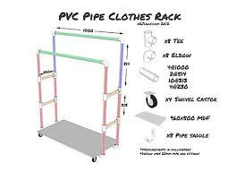Pvc Pipe Coat Rack Cool PVC Pipe Clothes Rack Lakukan Sendiri