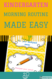 Chevron Morning Routine Schedule With Pictures Editable
