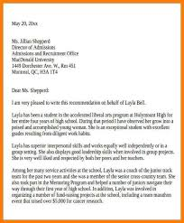 Recommendation Letter For Youth Leadership Magdalene