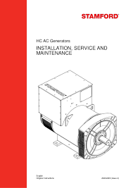 installation, service and maintenance generator by stamford Stamford Generator Wiring Diagram hc ac generators installation, service and maintenance english a040j849 (issue 4)original instructions stamford alternator wiring diagram