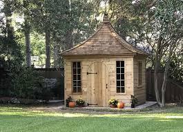 cedar shed wooden gazebo