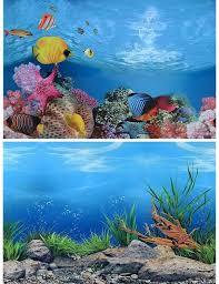 Aquarium Background Pictures 40 50cm H Pvc Double Sided Aquarium Background Poster Fish Tank