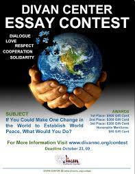 world view global update divan center invites high school students to participate in an essay contest the contest aims to promote awareness understanding and positive interaction