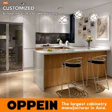 Customized Kitchen Cabinets Simple Guangzhou Modern White Matte Lacquer And Wood Grain Melamine Kitchen