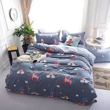 pre usa europe russian cartoon kids bedding sets king size duvet cover set bedding bedclothes unicorn baby child polka dot bedding modern bedding sets