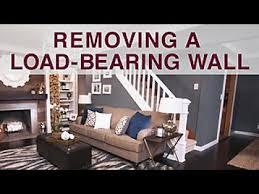 removing a load bearing wall diy