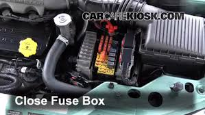 blown fuse check 1995 2000 chrysler sebring 2000 chrysler 6 replace cover secure the cover and test component