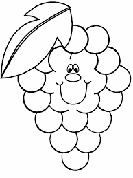 Grape Fruit Coloring Pages Coloring Page Book For Kids