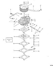 mercruiser 400 trs gm 454 v 8 1980 1986 4179554 thru 0b457644 mercruiser 370 400 440 460 cyclone trs engine carburetor and linkage 440