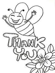 Small Picture Free Printable Thank You Coloring Cards Cards Create and Print