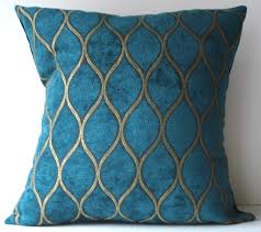 Ipod Pillow New 18x18 Inch Designer Handmade Pillow Case Peacock Blue And