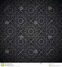 Koninklijk Naadloos Zwart Behang Vector Illustratie Illustratie