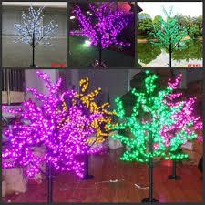 Cherry Blossom Christmas Lights 1 5m 5ft Height Led Artificial Cherry Blossom Trees Christmas Light 480 Led Bulbs 110 220v Rainproof Fairy Garden Decor Beaded Christmas Ornaments