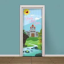 kids room door decoration in accordance with wishes of child decorating the bedroom door girl