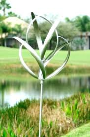 yard art wind spinners rosebud metal