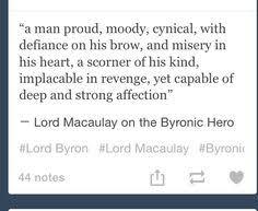 major characteristics of a byronic hero byronic heroes byronic hero experiment