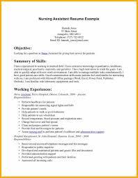 Free Cna Resume Samples Cna Resume Objective Cna Resume Jennifer