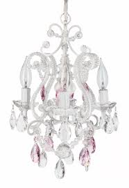decorative pink and white chandelier 3