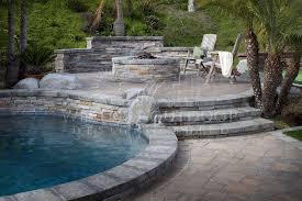 sunken or raised patios pool coping pavers raised patio landscaping p87 patio