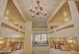 builtin bunkbeds shiplap ceiling we used pine tongue and groove