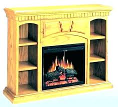electric fireplace with bookcase wi bookshelf