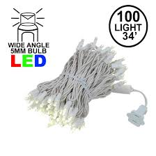 15 Count Led Commercial Style Globe Lights Warm White 100 Led Christmas Lights Sets 50 Long On White Wire