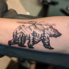 Mountain Bear Done By Tracy Marie Cereal City Tattoo