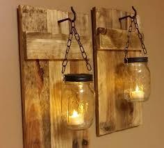 Decent Individual Hanging Mason Jar Wall ...