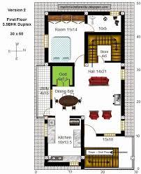 duplex house plans for 30x40 site east facing elegant 60 fresh gallery duplex house layout plan
