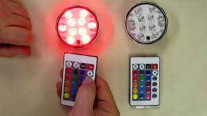 Radio Controlled Led Lights Puroma 2 Pack Rgb Submersible Led Lights Remote Controlled 16 Color Changing