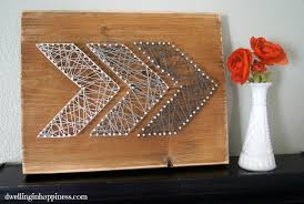 27+ DIY String Art Projects: Rustic Arrow String Art from Dwelling in  Happiness
