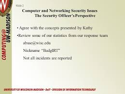 2 agree network security officer