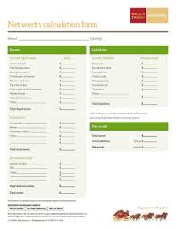 Net Worth Calculator 22 Printable Net Worth Calculator Forms And Templates