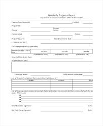 Quarterly Status Report Template Resume Templates Quarterly Report Template Word The Best
