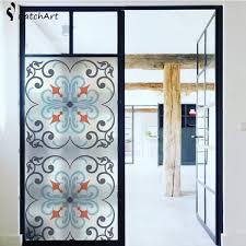 senarai harga no glue static cling stained glass window frosted privacy glass sticker home decor european retro terkini di malaysia