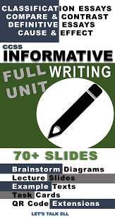 Definitive Essay Informative Writing Unit With Digital Exercises Brainstorm