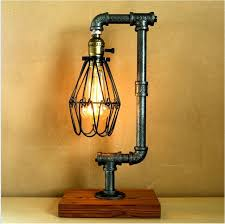 vintage retro style steel pipe desk table lamp light edison bulb led table lamp