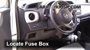 interior fuse box location toyota yaris toyota interior fuse box location 2012 2016 toyota yaris 2012 toyota yaris l 1 5l 4 cyl hatchback 4 door