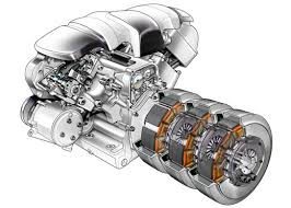 automotive illustration cutaway ghosted and phantom view engines hybrid engine