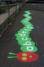 best ideas about playground games games for kids hungry caterpillar alphabet cute idea for kindergarten area could also be done paper