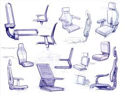 The Images Collection of Design sketches chair office furniture