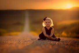 Small girl on road space wallpaper ...