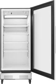 ft commercial glass door refrigerator frigidaire fcgm181rqb 18 4 cu ft commercial glass door refrigerator