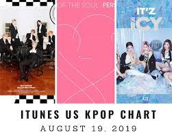 Kpop Chart 2019 Itunes Us Itunes Kpop Chart August 19th 2019 2019 08 19